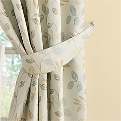 Montgomery - Duck egg 'Clover' curtain tiebacks
