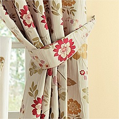 Montgomery - Red 'Forget Me Not' curtain tiebacks