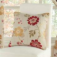 Red 'Forget Me Not' cushion cover