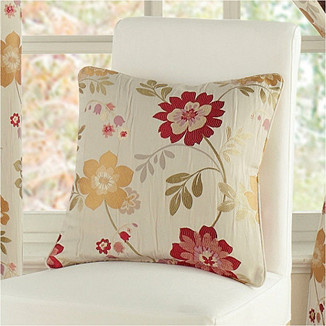 Montgomery - Red 'Forget Me Not' cushion cover