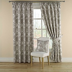 Montgomery - Grey 'Medici' lined curtains with pencil heading