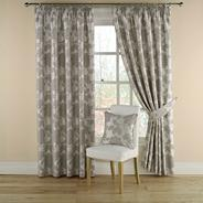 Grey 'Medici' lined curtains with pencil heading