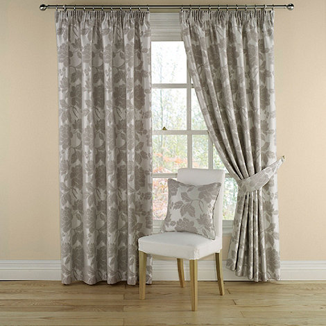 Montgomery - Grey +Medici+ lined curtains with pencil heading