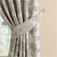 Grey 'Medici' curtain tiebacks