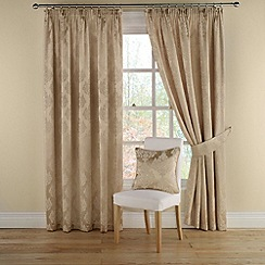 Montgomery - Gold 'Realm' lined curtains with pencil heading