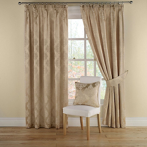 Montgomery - Gold +Realm+ lined curtains with pencil heading