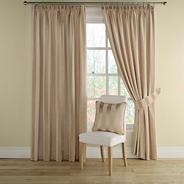 Gold 'Realm Stripe' lined curtains with pencil heading