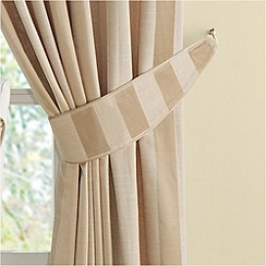 Montgomery - Gold 'Realm Stripe' curtain tiebacks