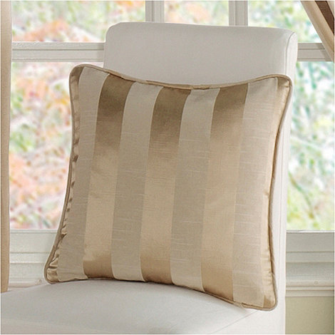 Montgomery - Gold +Realm Stripe+ cushion cover