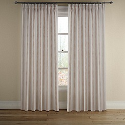 Montgomery - Natural 'Avon Stripe' lined curtains with pencil heading