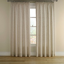 Montgomery - Taupe 'Grain' lined curtains with pencil heading
