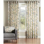 Teal 'Solo' fully lined curtains with eyelet heading
