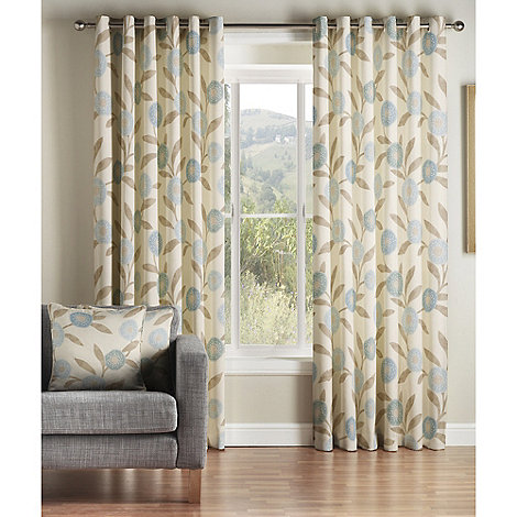 Montgomery - Teal +Solo+ fully lined curtains with eyelet heading