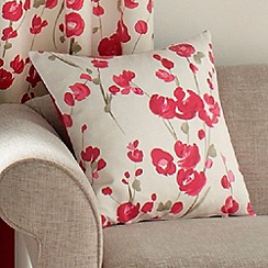 Montgomery - Red 'Wasabi' cushion cover