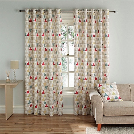 Montgomery - Multi Colour +Hiphop+ fully lined curtains with eyelet heading