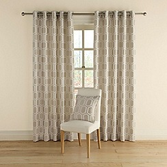 Montgomery - Silver 'Honeycomb' curtains with eyelet heading
