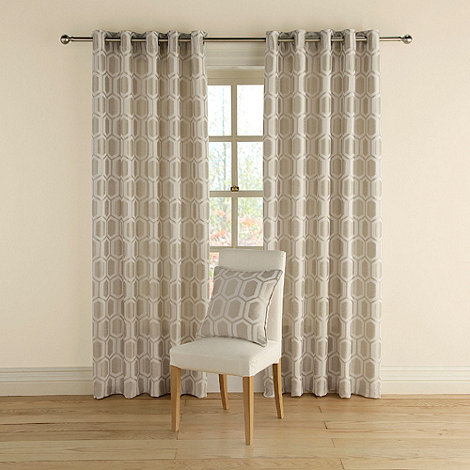 Montgomery - Silver +Honeycomb+ curtains with eyelet heading