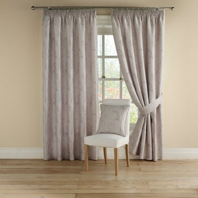 Montgomery Pearl Pollen fully lined curtains with pencil