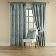 Duck egg 'Pollen' fully lined curtains with pencil heading