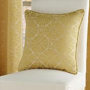 Mustard 'Rotunda' cushion cover