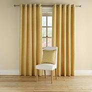 Mustard 'Rotunda' fully lined curtains with eyelet heading