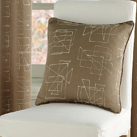 Montgomery - Taupe +Doodle+ cushion cover