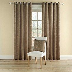 Montgomery - Taupe 'Doodle' fully lined curtains with eyelet heading
