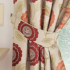 Montgomery - Raspberry 'Sunflower' Curtain Tiebacks