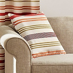 Montgomery - Coral 'Candy Stripe' Cushion Cover