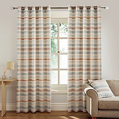 Montgomery - Duck Egg 'Candy Stripe' Fully Lined Eyelet Curtains