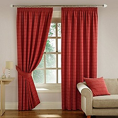 Montgomery - Red 'Balamory' Fully Lined Pencil Pleat Curtains