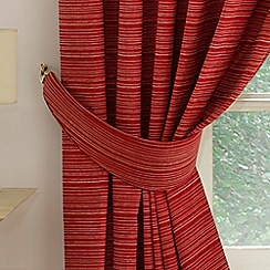 Montgomery - Red 'Balamory' Curtain Tiebacks