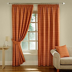Montgomery - Terracotta 'Balamory' Fully Lined Pencil Pleat Curtains