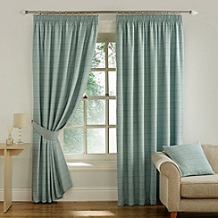 Montgomery - Duck Egg 'Balamory' Fully Lined Pencil Pleat Curtains