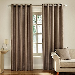 Montgomery - Taupe 'Pebbe' Fully Lined Eyelet Curtain