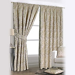 Joshua Thomas - Forest Green 'Forest Glade' Fully Lined Pencil Pleat Curtains