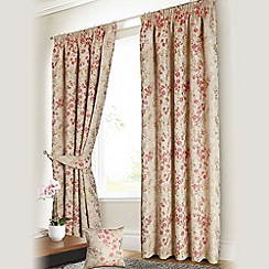 Joshua Thomas - Fushsia 'Vivienne' Fully Lined Pencil Pleat Curtains