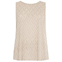 Dorothy Perkins - Curve blush zig zag godet back t-shirt