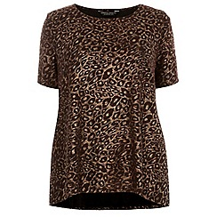 Dorothy Perkins - Curve red and gold animal t-shirt