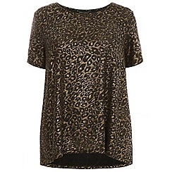 Dorothy Perkins - Curve bronze and gold animal t-shirt