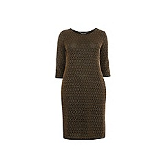 Dorothy Perkins - Curve gold sparkle bodycon dress