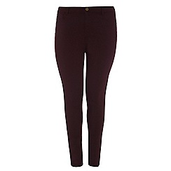 Dorothy Perkins - Dp curve aubergine fly front jeggings