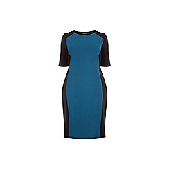 Dorothy Perkins - Curve teal panel bodycon dress