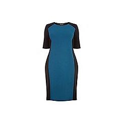 Dorothy Perkins - Curve teal panel bodycon dress