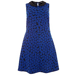 Dorothy Perkins - Curve blue and black floral dress