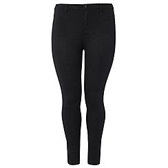 Dorothy Perkins - Dp curve black sparkle jeans