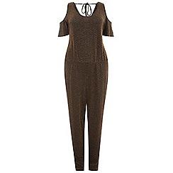 Dorothy Perkins - Curve gold sparkle jumpsuit