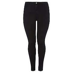 Dorothy Perkins - Dp curve black fly front jeggings