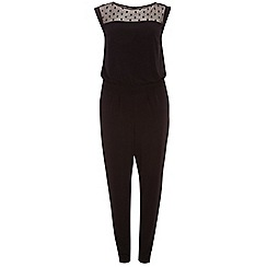 Dorothy Perkins - Curve black mesh yoke jumpsuit
