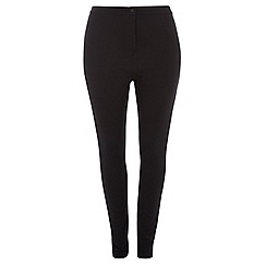 Dorothy Perkins - Curve black coated twill treggings